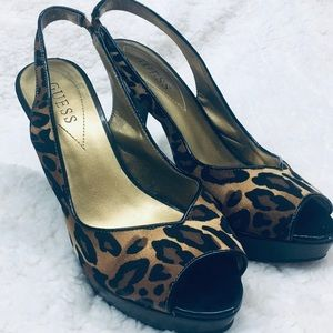 Open toed Guess Heels size 8M